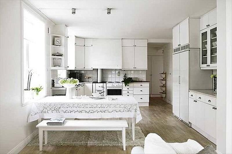 20 sleek and serene all white kitchen design ideas to inspire - rilane