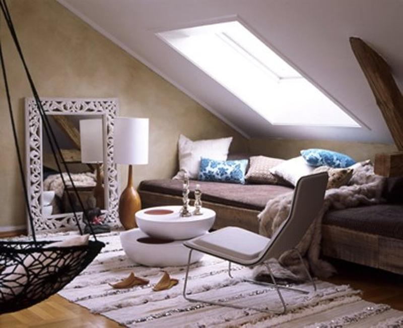 20 beautiful attic living room design ideas rilane. Black Bedroom Furniture Sets. Home Design Ideas