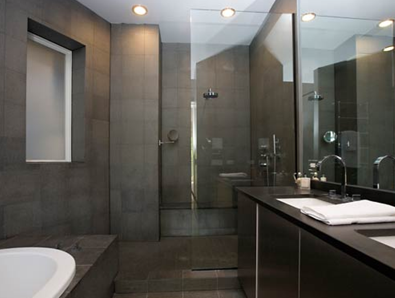 Bold Gray Bathroom