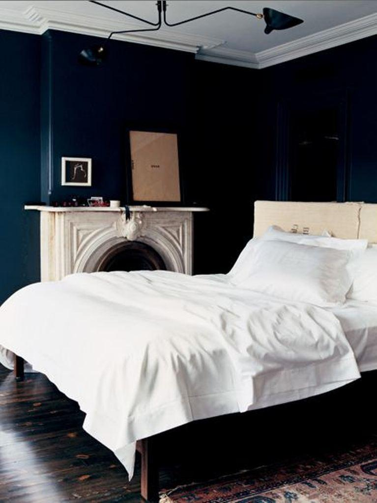 Bold Navy Blue Bedroom