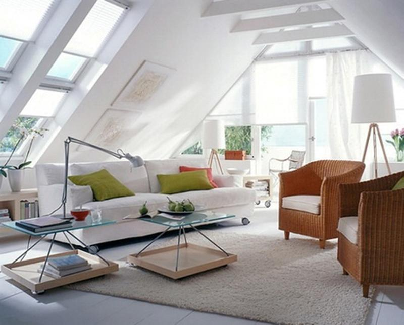Attic Design Ideas view in gallery Bright Attic Living Room