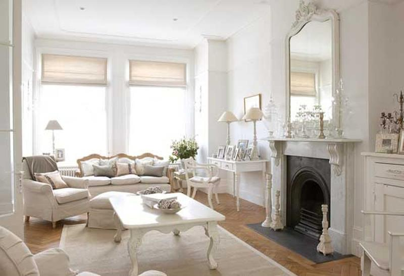 20 distressed shabby chic living room designs to inspire for Victorian villa interior design