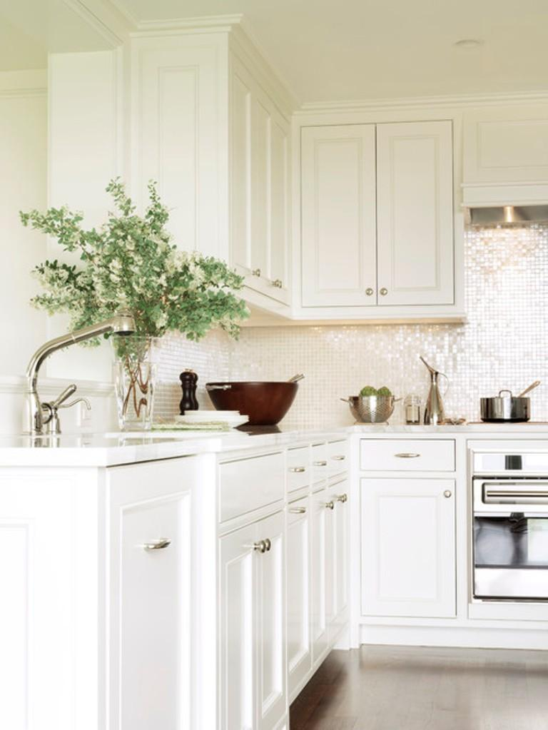 Charming All White Kitchen
