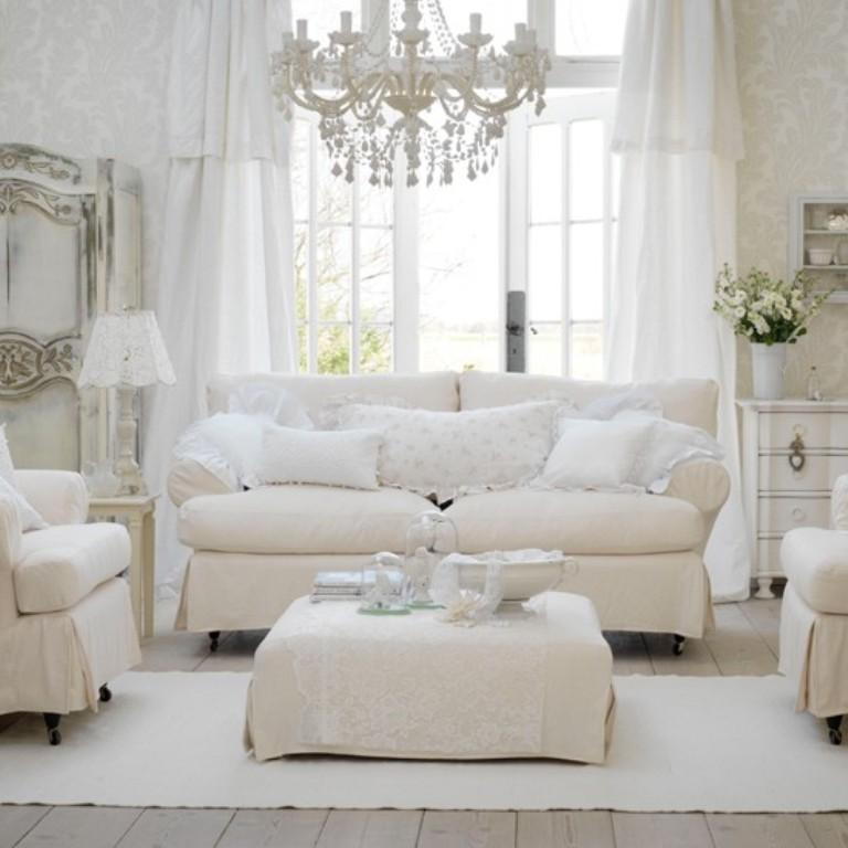20 Distressed Shabby Chic Living Room Designs To Inspire - Rilane