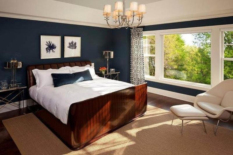 Classical Navy Blue Bedroom