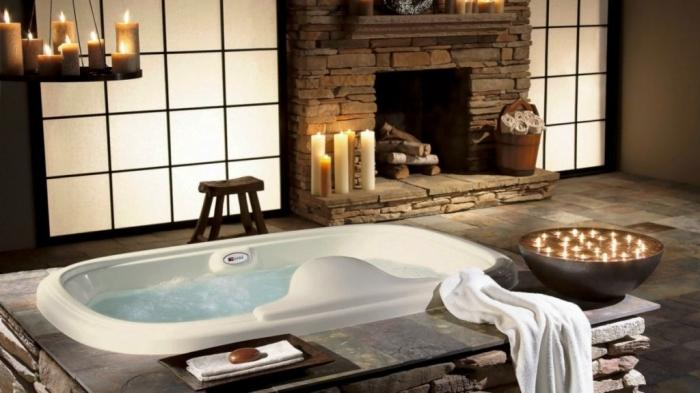 Bathroom Jacuzzi Decorating Ideas 15 aromatic bathrooms with candle design - rilane