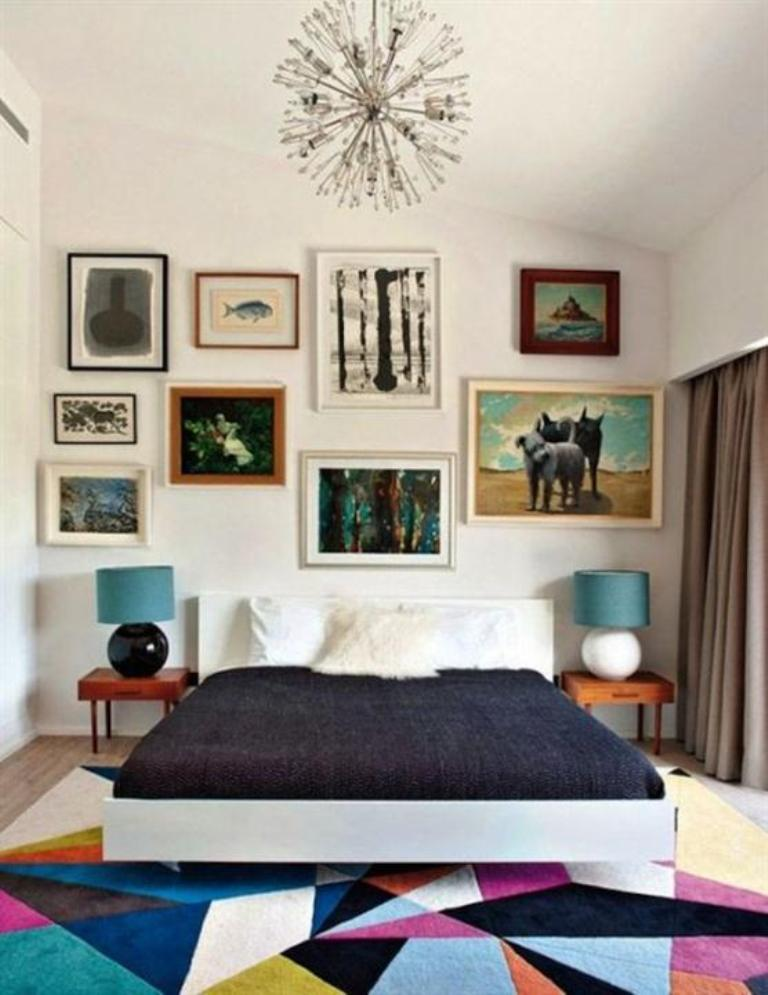 Bedroom Ideas And Colors Part - 27: Colorful Mid Century Bedroom