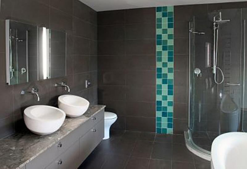 Beau Dark Gray Bathroom