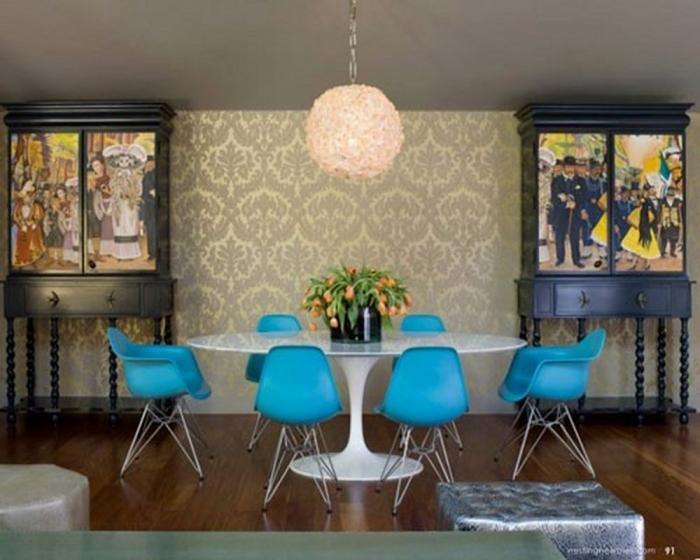 10 Splendid Dining Room Settings with Eiffel Chairs