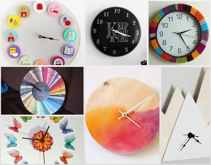 50 DIY Clock Ideas