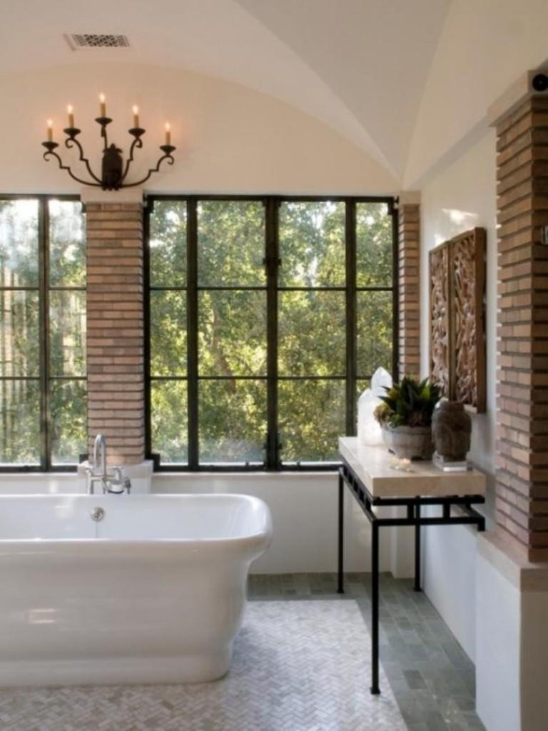 20 dashingly contemporary bathroom designs with exposed brick