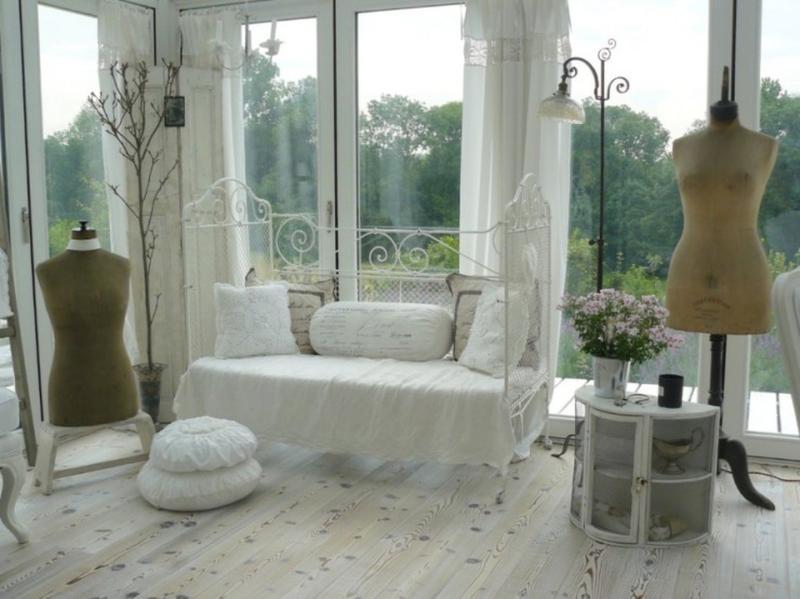 Dramatic Shabby Chic Living Room