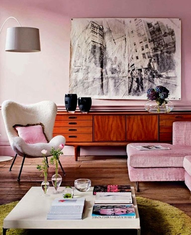 Dusty Pink Living Room