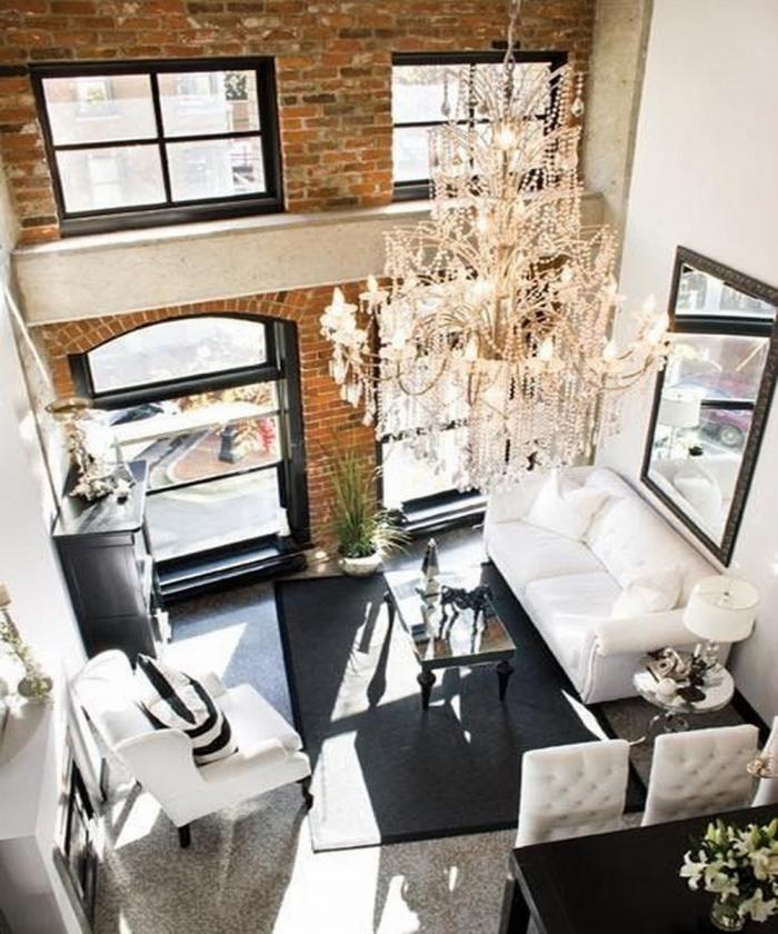 High Ceiling Modern Living Rooms: 10 Fascinating High Ceiling Living Rooms With Chandelier