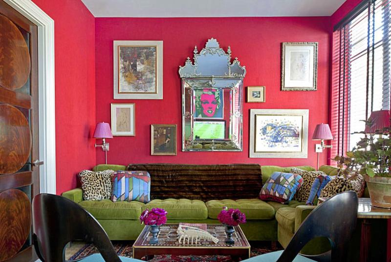 charming design red wall bedrooms | 30 Extremely Charming Pink Living Room Design Ideas - Rilane