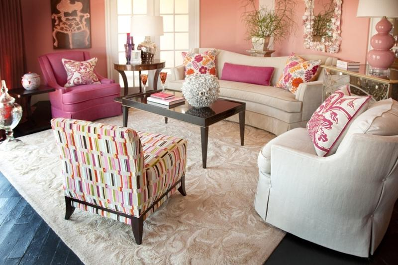 Black And White And Pink Living Room 30 extremely charming pink living room design ideas - rilane