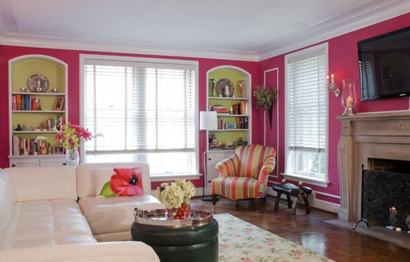 Family Pink Living Room