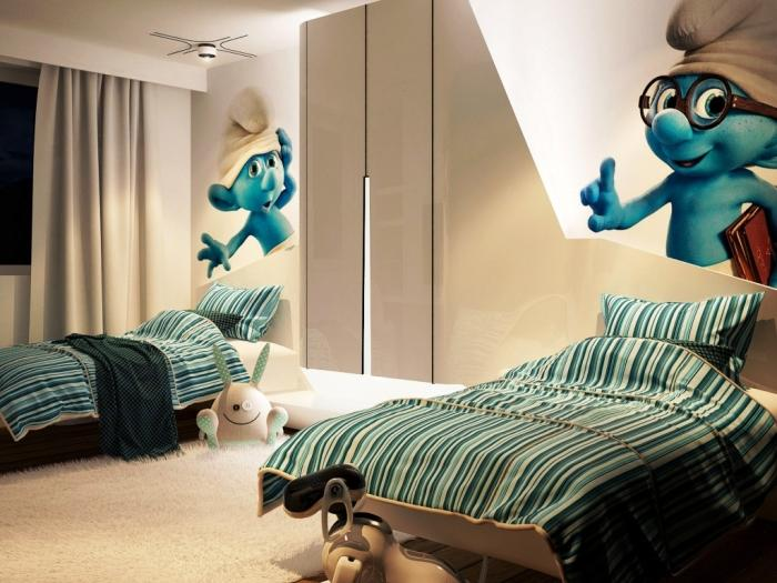10 Fun Cartoon Character Kids Bedroom Wall Decoration - Rilane