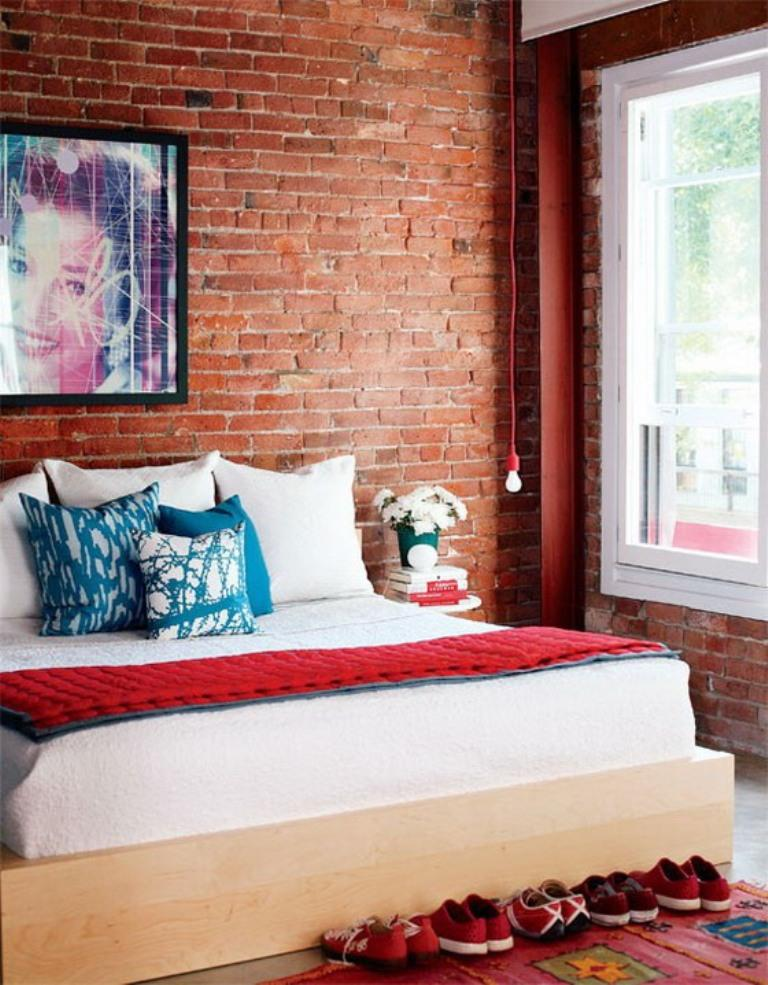 Girly Bedroom With Brick Walls