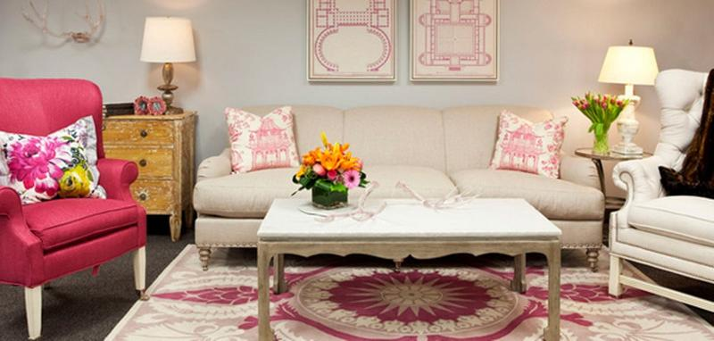 36 Charming Living Room Ideas: 30 Extremely Charming Pink Living Room Design Ideas