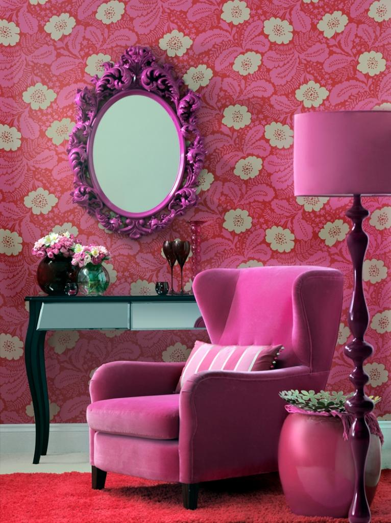 Perfect Hot Pink Living Room Part 3
