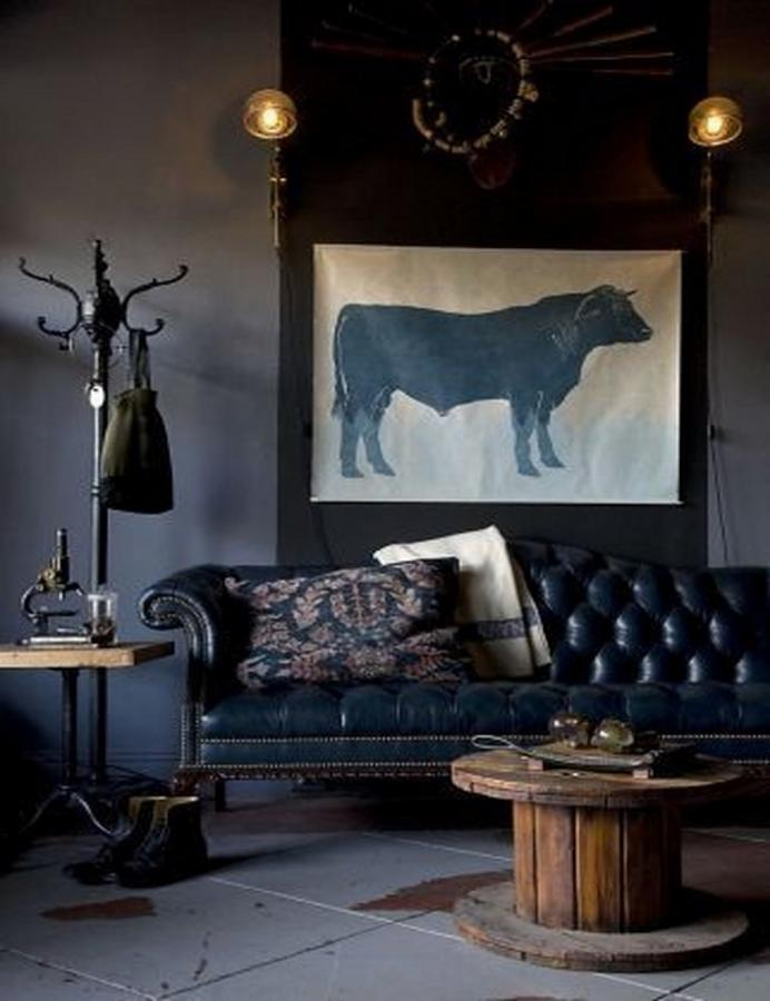 10 gorgeous leather chesterfield sofa designs you ll love rilane - Deco lounge oud en modern ...
