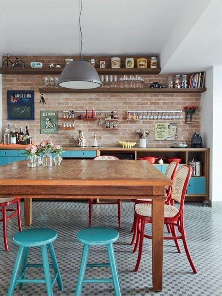 Interesting Eclectic Kitchen