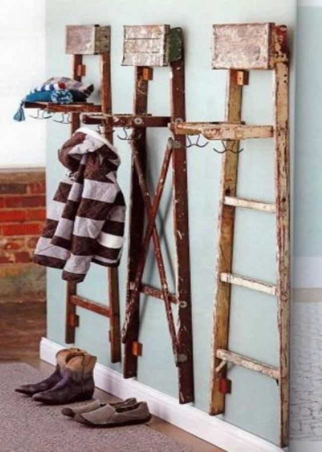 Old Ladder Coat Stand