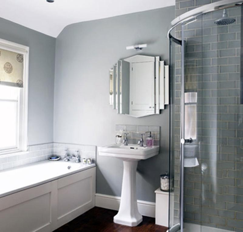 Light grey bathroom