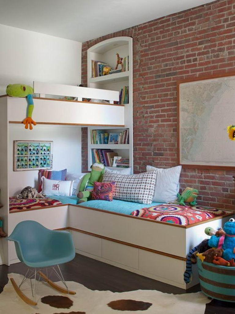 astounding bedroom brick wall | 15 Amazing Kid's Bedroom Designs with Exposed Brick Walls ...