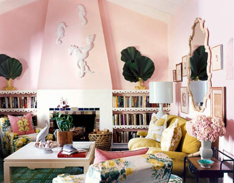 Lively Pink Living Room