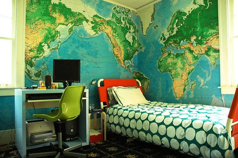 15 cool blue and green boy s bedroom design ideas rilane for Poster jugendzimmer