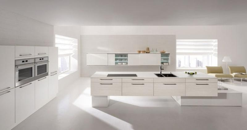 20 sleek and serene all white kitchen design ideas to for Kitchen ideas modern white