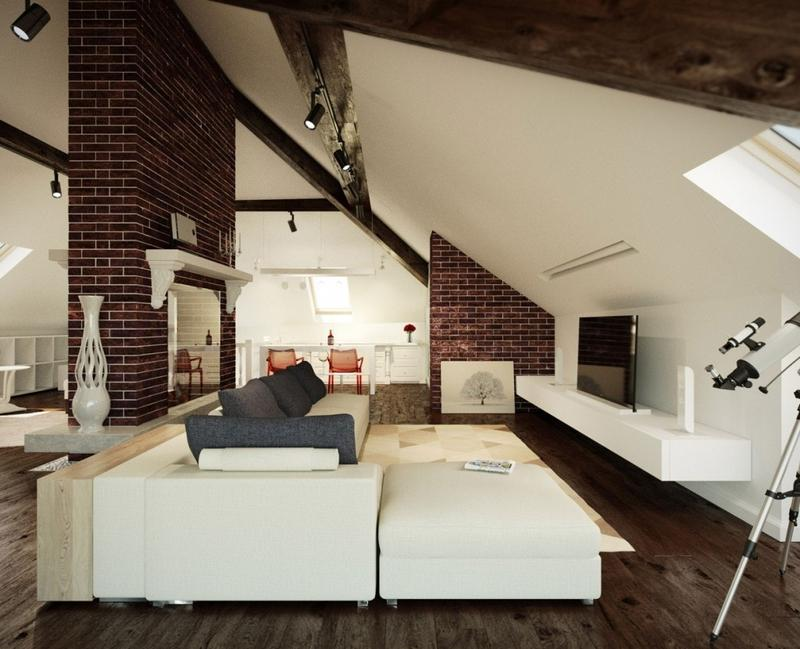 Medium Attic Living Room Design 20 Beautiful Attic Living Room Design Ideas Rilane