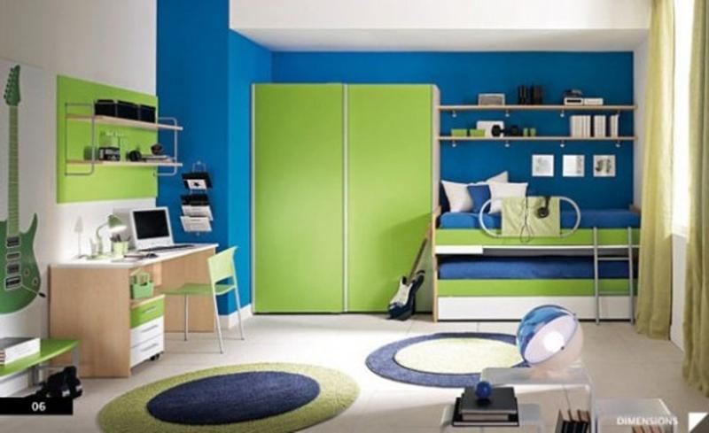 15 cool blue and green boy s bedroom design ideas rilane