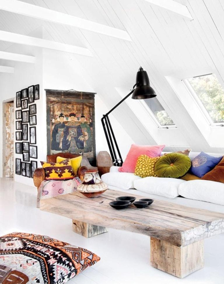 20 Beautiful Attic Living Room Design Ideas - Rilane
