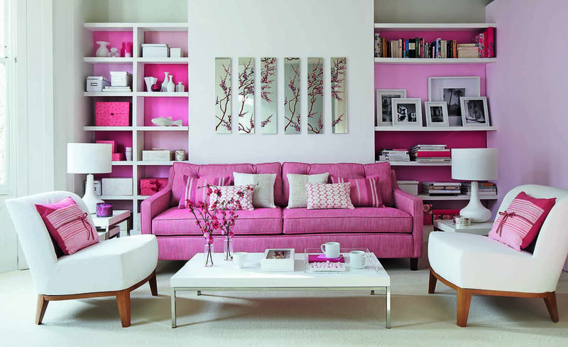 30 Extremely Charming Pink Living Room Design Ideas Rilane : modern pink living room from rilane.com size 800 x 488 jpeg 184kB