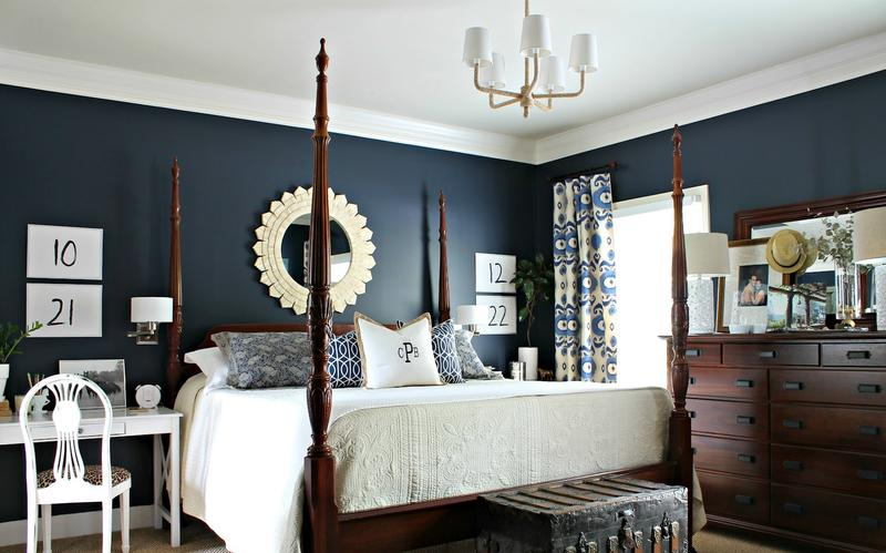 18 vibrant navy blue bedroom design ideas rilane for Bedroom ideas navy blue