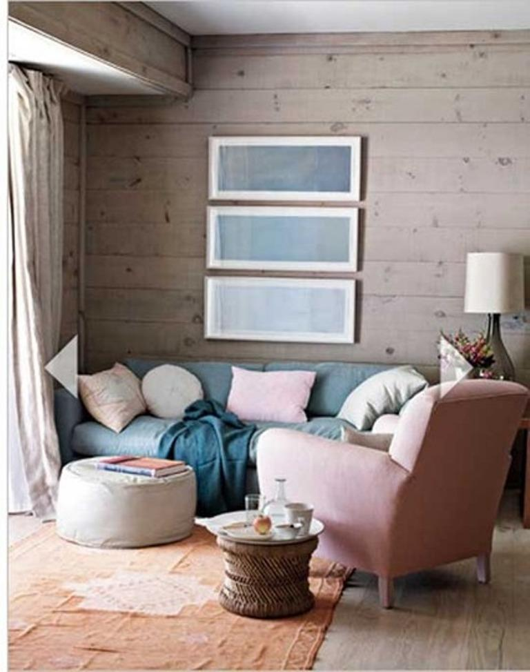 Neutral Pink Living Room