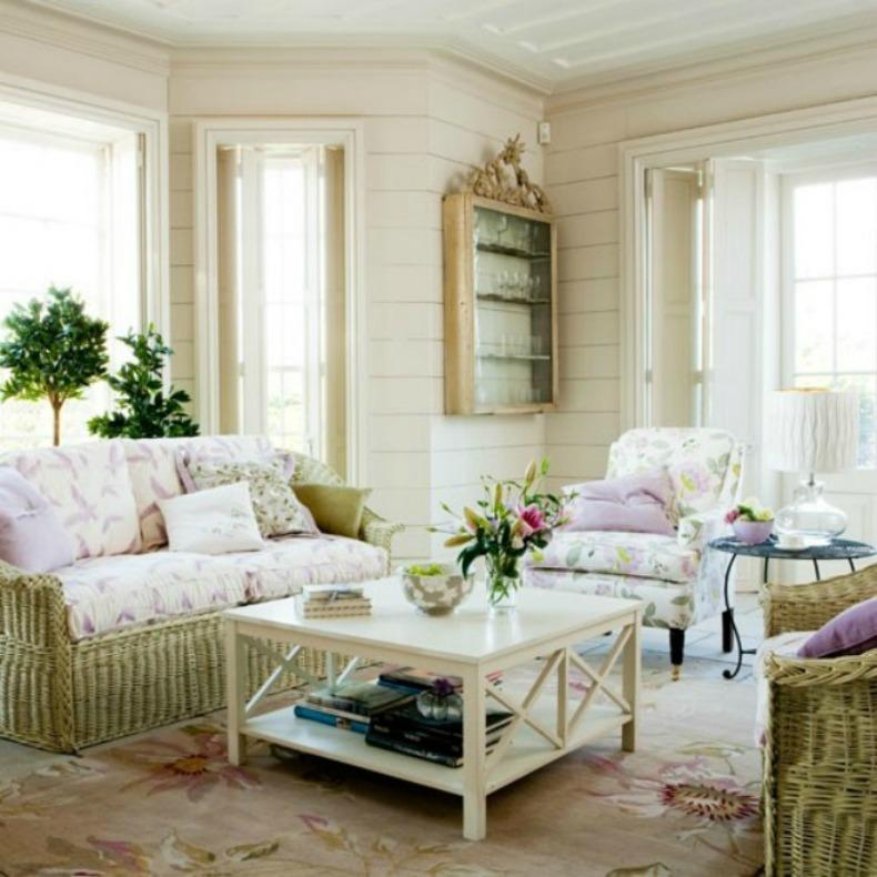 20 distressed shabby chic living room designs to inspire for Shabby moderno