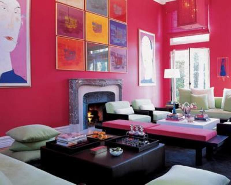 Pop Art Pink Living Room