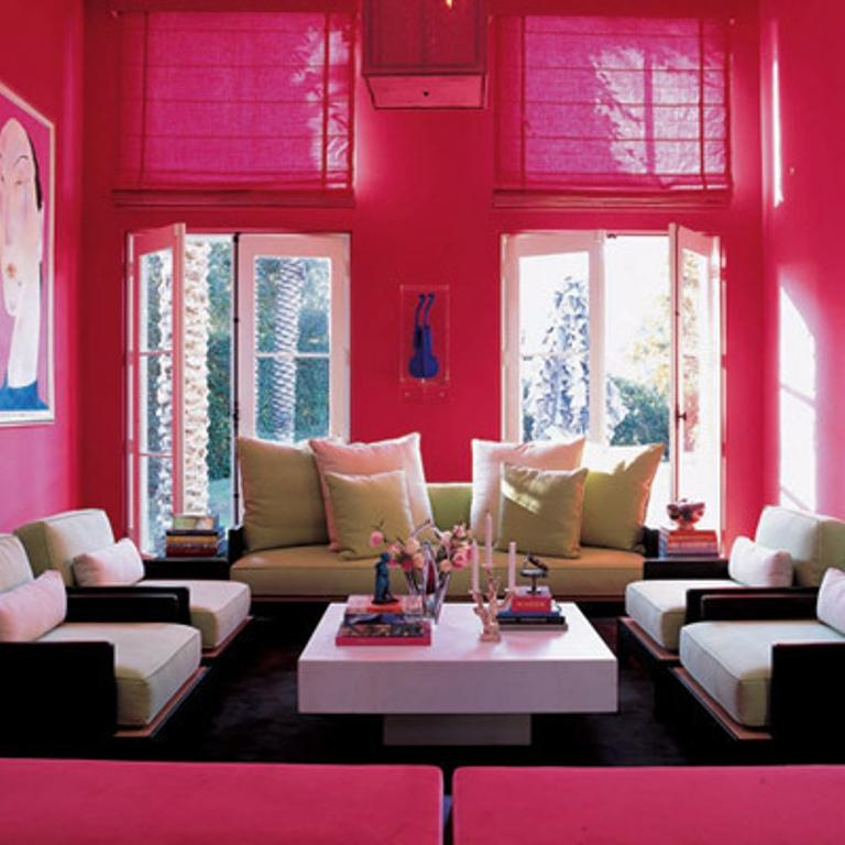 Sensual Pink Living Room