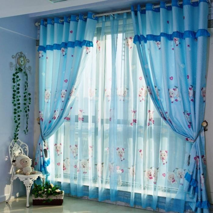 10 Awesome Colorful Kid\'s Bedroom Curtain Design - Rilane