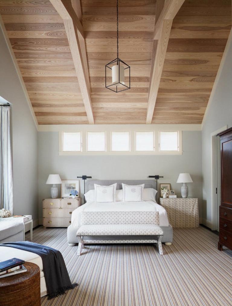 charming modern wood ceiling bedroom   20 Modern Bedroom Designs with Exposed Wood Beams - Rilane