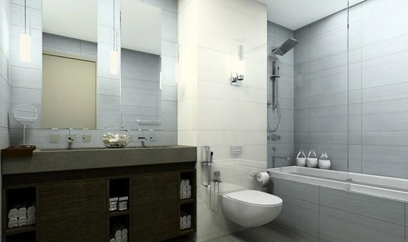 sleek gray bathroom design - Gray Bathroom Ideas