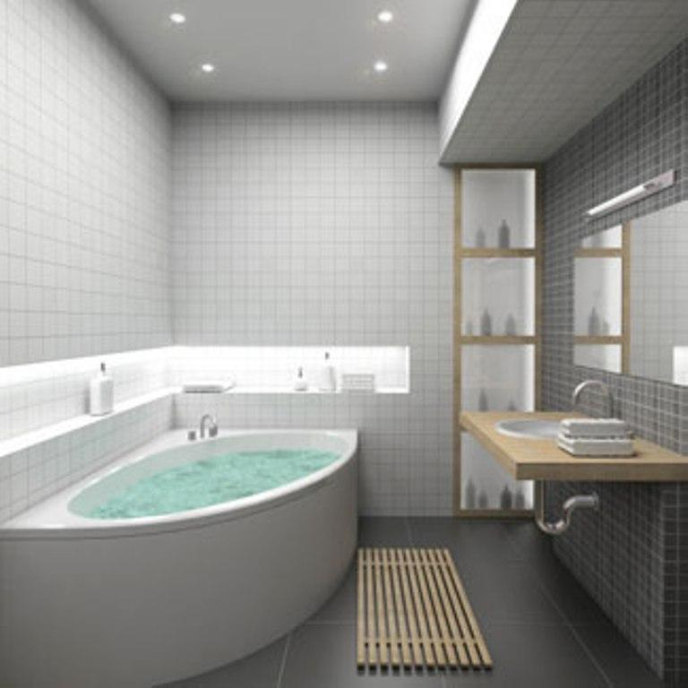 Small Gray Bathroom Design