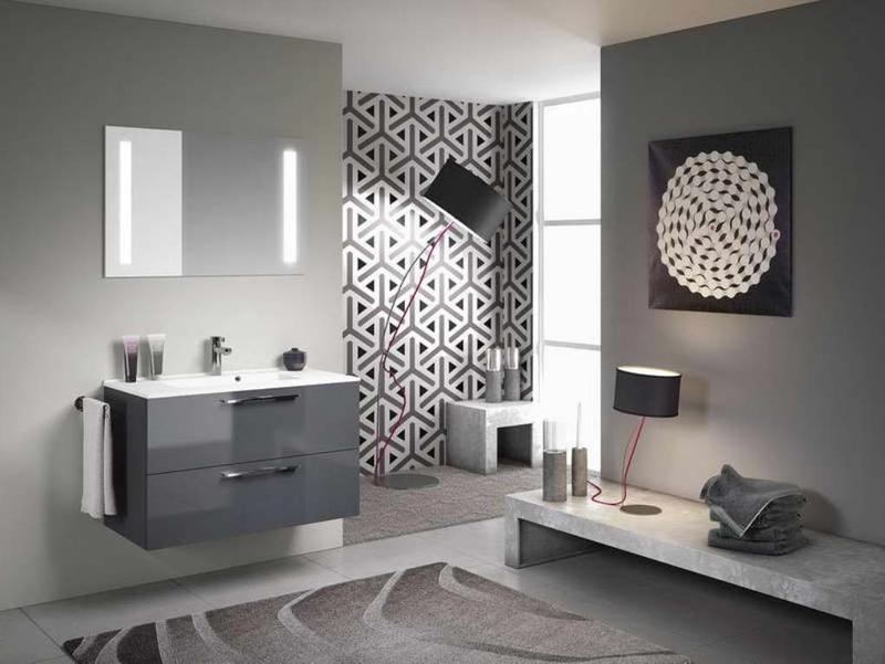 Stylish Gray Bathroom