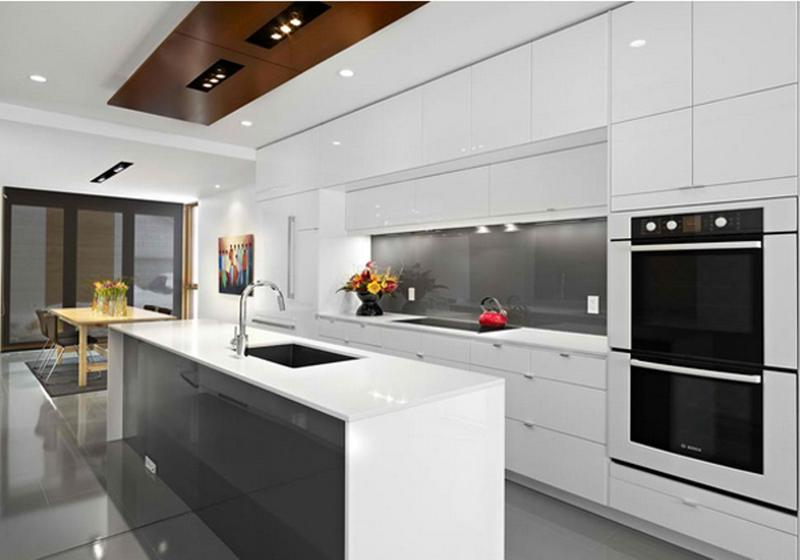 Super Sleek All White Kitchen