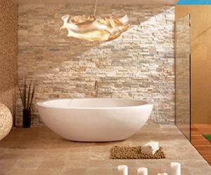 20 Dashingly Contemporary Bathroom Designs with Exposed Brick Walls