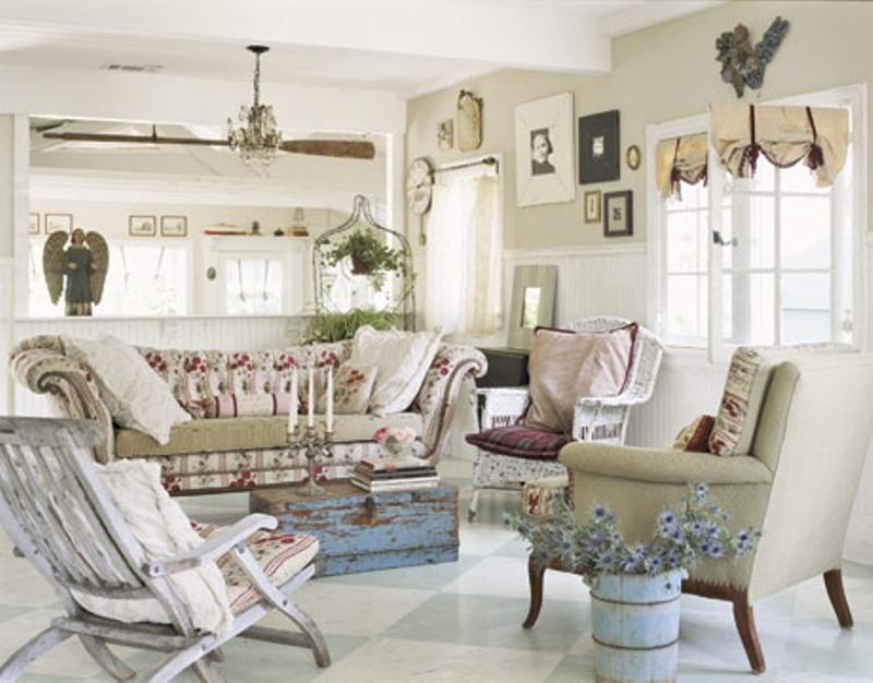 Wonderful Vintage Shabby Chic Living Room